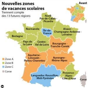 Carte zones scolaires